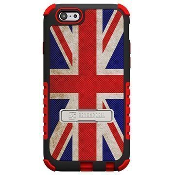 iPhone 6 Plus Beyond Cell Tri Shield Design Hybrid Suojakuori British Flag