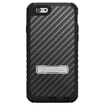 iPhone 6 Plus Beyond Cell Tri Shield Design Hybrid Suojakuori Carbon Fiber Black