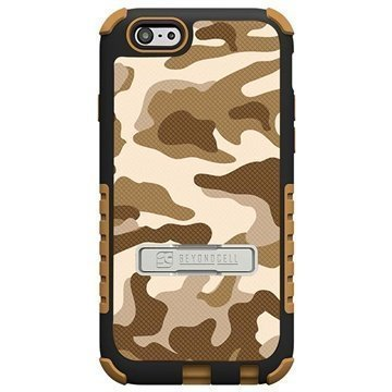 iPhone 6 Plus Beyond Cell Tri Shield Design Hybrid Suojakuori Desert Storm Camouflage