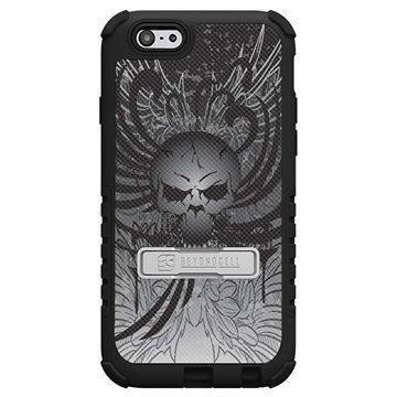 iPhone 6 Plus Beyond Cell Tri Shield Design Hybrid Suojakuori Pääkallo-siivet