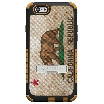 iPhone 6 Plus Beyond Cell Tri Shield Design Hybridikotelo Kalifornian Lippu