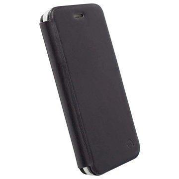 iPhone 6 Plus Krusell Kiruna Lompakkomallinen Nahkakotelo Musta
