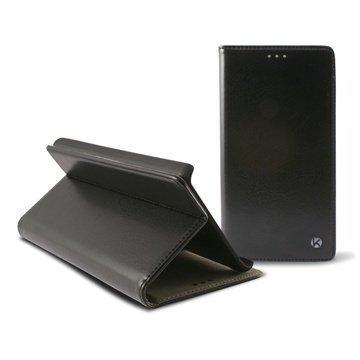 iPhone 6 Plus Ksix Stand Folio Nahkainen Suojakotelo Musta