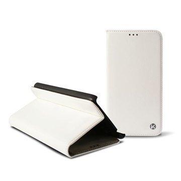 iPhone 6 Plus Ksix Stand Folio Nahkainen Suojakotelo Valkoinen