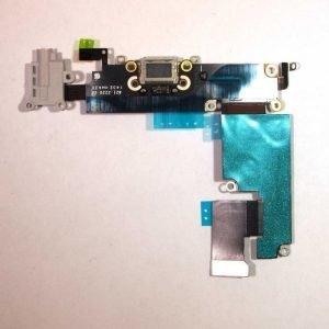iPhone 6 Plus Latausportti flex-kaapeli + kuulokeliitäntä + mikrofoni Harmaa