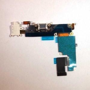 iPhone 6 Plus Latausportti flex-kaapeli + kuulokeliitäntä + mikrofoni Valkoinen