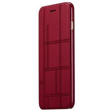 iPhone 6 Plus Momax Be Elite Series Läppäkotelo Punainen