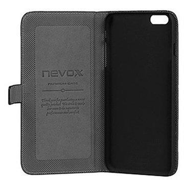 iPhone 6 Plus Nevox Ordo Folio Kotelo Musta / Harmaa