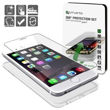 iPhone 6 Plus/6S Plus 4smarts 360 Suojaussetti Läpinäkyvä