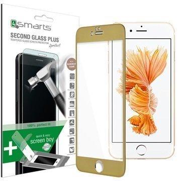 iPhone 6 Plus/6S Plus 4smarts Second Glass Plus Näytönsuoja Kulta