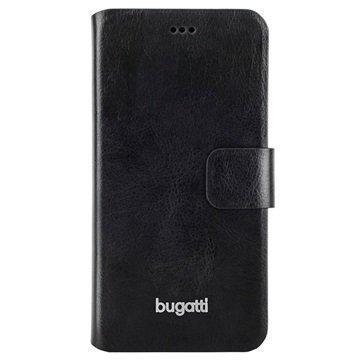 iPhone 6 Plus/6S Plus Bugatti Geneva Book Kotelo Musta
