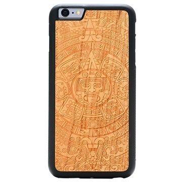 iPhone 6 Plus/6S Plus Carved Traveler Kotelo Atsteekkien Kalenteri