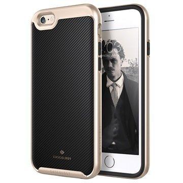 iPhone 6 Plus/6S Plus Caseology Envoy Kotelo Hiilikuitu Musta / Kulta