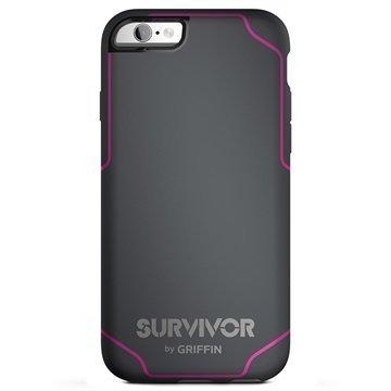 iPhone 6 Plus/6S Plus Griffin Survivor Journey Kuoret Tummanharmaa / Pinkki