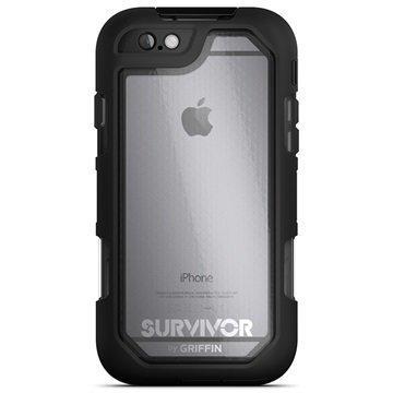 iPhone 6 Plus/6S Plus Griffin Survivor Summit Kotelo Musta / Läpinäkyvä