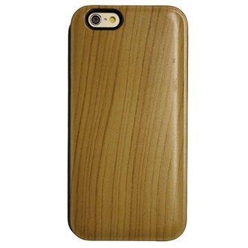 iPhone 6 UreParts Kova Kotelo Puu Vaalean Ruskea