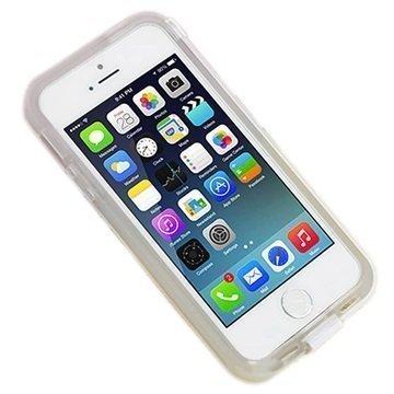 iPhone 6 UreParts Kova Kotelo & USB-Latauskaapeli Läpinäkyvä Valkoinen