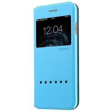 iPhone 6 Usams Zero Series Smart Slide Läppäkotelo Sininen
