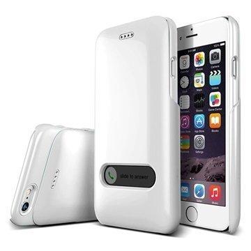 iPhone 6 Verus Slim Hard Slide Series Kotelo Helmenvalkoinen