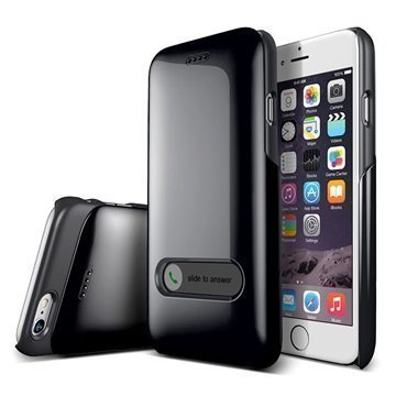 iPhone 6 Verus Slim Hard Slide Series Kotelo Hiilenmusta