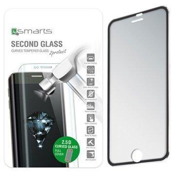 iPhone 6/6S 4smarts Colour Rim Glass Lasinen Näytönsuoja Musta