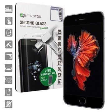 iPhone 6/6S 4smarts Curved Glass Näytönsuoja Musta