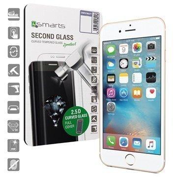 iPhone 6/6S 4smarts Curved Glass Näytönsuoja Valkoinen