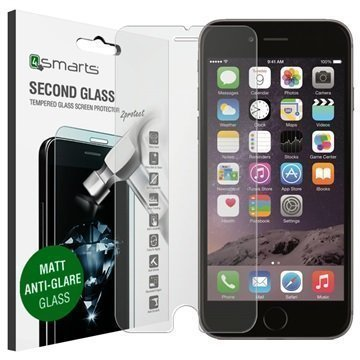 iPhone 6/6S 4smarts Second Glass Matta Näytönsuoja Heijastamaton