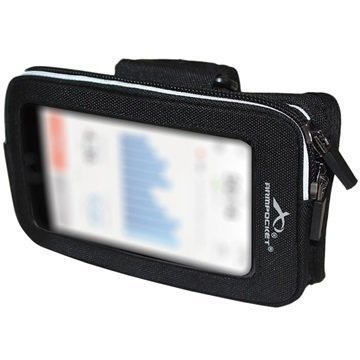 iPhone 6/6S Armpocket Wrister Universaali Käsivarsikotelo M/L Musta