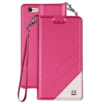 iPhone 6/6S Beyond Cell Infolio C Lompakkokotelo Kuuma Pinkki