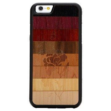 iPhone 6/6S Carved Traveler Kotelo Haalistunut Kukka