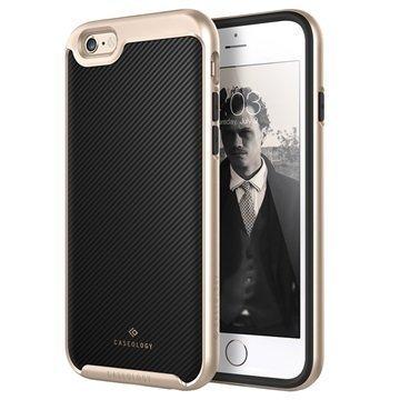 iPhone 6/6S Caseology Envoy Kotelo Hiilikuitu Musta / Kulta