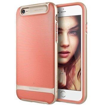 iPhone 6/6S Caseology Wavelength Suojakuori Korallinpunainen / Kulta
