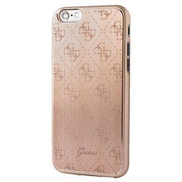 iPhone 6/6S Guess 4G Alumiininen Kova Kotelo Kulta