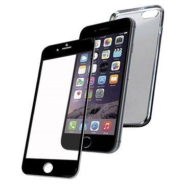iPhone 6/6S PanzerGlass Premium Suojaussetti Musta / Avaruusharmaa