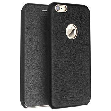iPhone 6/6S Qialino Nahkainen Lompakkokotelo Lampaannahka Musta