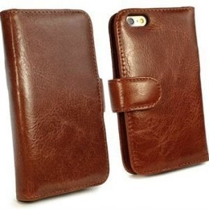iPhone 6/6S Tuff-luv Vintage Wallet Nahkakotelo Ruskea