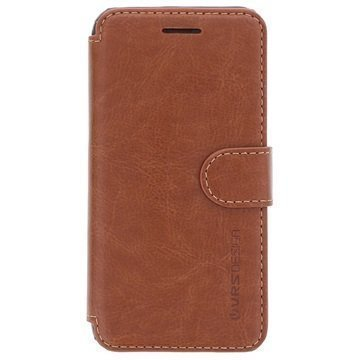 iPhone 6/6S Verus Layered Dandy Series Lompakkokotelo Kahvi / Vaaleanruskea