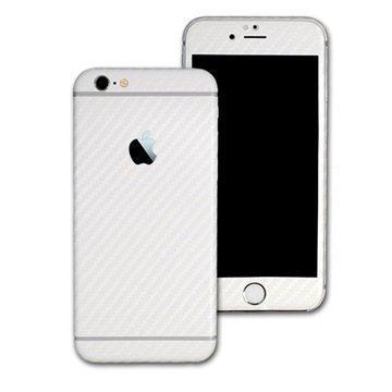 iPhone 6S EasySkinz 3D Textured Carbon Fibre Skin Valkoinen