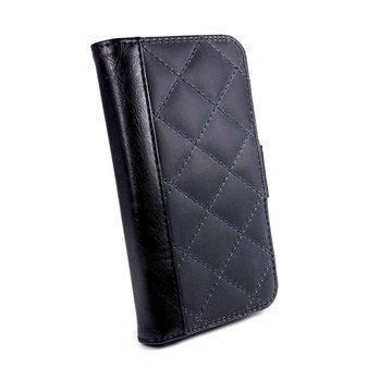 iPhone 6S Plus Tuff-luv Vintage Tikattu Lompakkokotelo Musta / Sininen