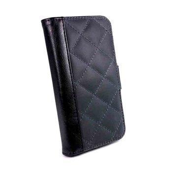 iPhone 6S Tuff-luv Vintage Tikattu Lompakkokotelo Musta / Sininen