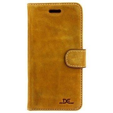 """iPhone 6/iPhone 6S DC Luka nahkainen lompakkokotelo â"""" Tupakka"""