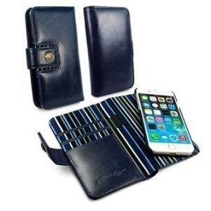 iPhone 7 Alston Craig Vintage Nahkainen Lompakkokotelo Tummansininen