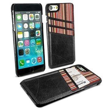 iPhone 7 Alston Craig korttitaskullinen suojakotelo Musta