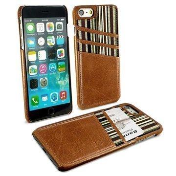 iPhone 7 Alston Craig korttitaskullinen suojakotelo Ruskea