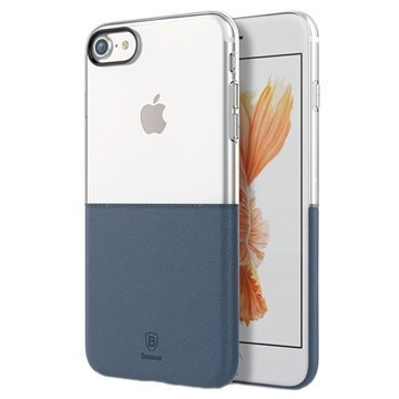 iPhone 7 Baseus Premium Maker Case Transparent / Dark Blue
