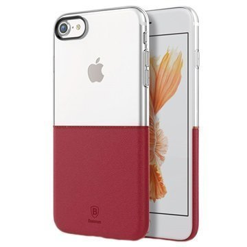 iPhone 7 Baseus Premium Maker Case Transparent / Red