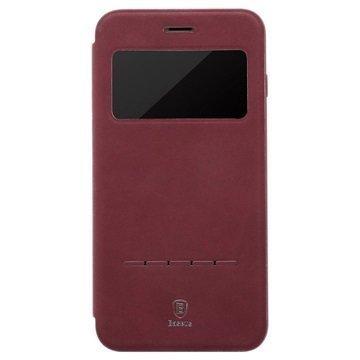 """iPhone 7 Baseus Simple Slide läppäkotelo â"""" Viininpunainen"""