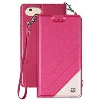 iPhone 7 Beyond Cell Infolio C Lompakkokotelo Kuuma Pinkki