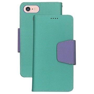 iPhone 7 Beyond Cell Infolio Lompakkokotelo Minttu / Violetti